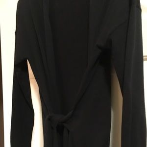 Black tie front long cardigan from the Loft